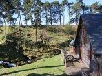 Spring view of Woodburn Lodge
