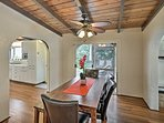 Enjoy home-cooked meals around the dining room table with seating for 6.