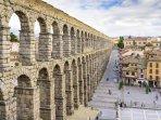 El Acueducto de Segovia a 50 min del apartamento.