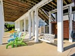 plenty of covered outdoor area to relax, fish, and socialize