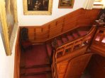 Fabulous feature pitch pine staircase
