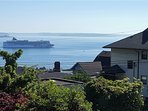 Spectacular views of Elliot bay from the view deck and Master Suite.
