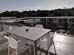 Large terrace overlooking 3 pools and the golf course (smoking permitted) on terrace only