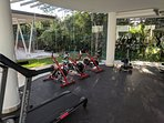 More exercise equipment