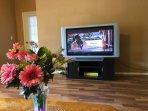 50' TV in living room