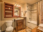 After a long day on the slopes, enjoy a soothing shower in the full bathroom.
