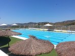 Swimming pool with spectacular views, open mid June to end August.