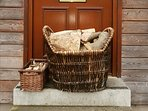 Very large basket of logs and smaller basket of kindling provided free of chanrge all year round!