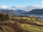 Looking down on Ullapool and Loch Broom from the North Road