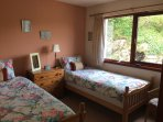Downstairs twin bedroom at Taigh a' Bhraoin