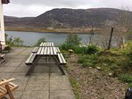 The view from the Patio at Taigh a' Bhraoin