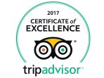 We achieved the Trip Advisor certificate of Excellence for 2017