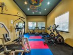 Fitness center in club house for your use