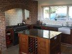 Solid oak kitchen with granite work top