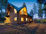Blue Sky Lodge is hand-crafted from massive sustainably-sourced BC white pine logs.