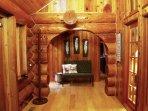Sol Duc River Log Cabin