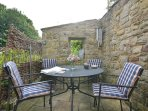 Enjoy sitting in one of the delightful patios