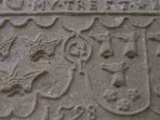 This is the original crest stone from 1598 above the door