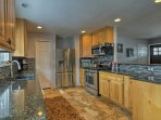 Prepare home-cooked meals in the fully equipped kitchen,