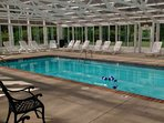 Indoor Heated Pool at Mountain View Condos