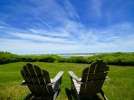 Relaxing sitting area overlooking Nauset Inlet