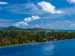 Turquoise View with infinity edge pool leading to the suspended feature balcony, sleeping 25 guests