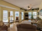 Well furnished dining and living space, plenty of room for the family to relax.