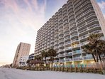 WatersEdge Resort from the Beach