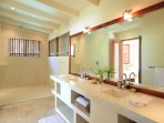 Sandy Lane - Light and bright guest bathrooms