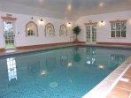 Indoor heated pool with sauna & steam room