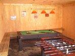 Foosball, Darts and Pool/Air HockeyTable