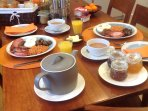 A sumptuous English breakfast can be served in the Main Barn upon request and at an additional cost