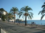 Promenade des Anglais, waiting for you to enjoy a stroll. The Prom is only a few mins from the apart