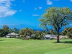 Wailea Blue golf course surrounds three sides of the condo complex