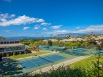 Wailea Tennis Center adjacent to the condo complex