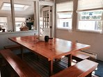 Amish made plank table, seats 12+