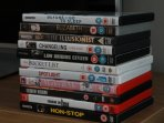 large selection of DVDs to watch