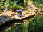 Koi pond and lantern