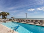 Oceanside pool and sun deck at the north tower