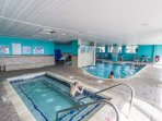 Indoor pool at main 1700 building for year round rain or shine swimming