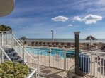 Enjoy the sun without the sand at this oceanfront pool and sundeck in front of your building