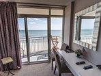 Balcony access from the master bedroom, wonderful ocean view.
