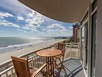 Your own private balcony with ocean views for miles