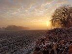 Frosty early morning January