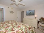This cozy master bedroom also features a private full bath.