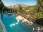 Pool with unobstructed mountain views