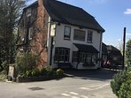 Characterful, beamy pub that serves excellent food just a stone's throw away