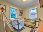 The home is equipped with a pack-n-play, books, and lots of board games, perfect for families with young kids!