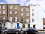 The apartment is situated on a lovely, quiet street in Marylebone