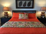 King Size bed with designer linens
